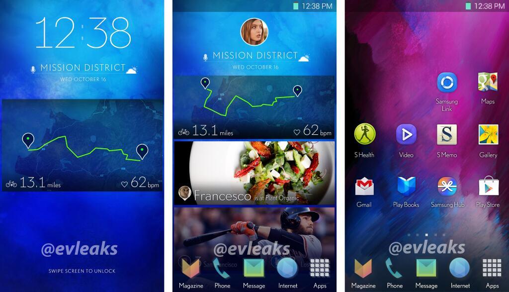 Samsung Galaxy S5 Benutzeroberfläche